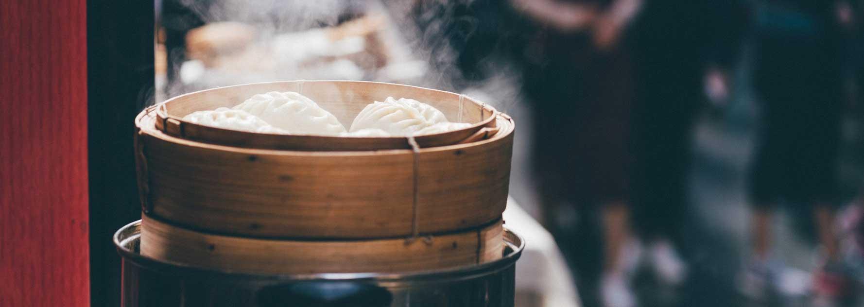 Bambus Dampfkorb